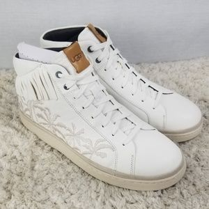 New UGG Fringe Palm Tree Hi-Top Sneakers Size 11